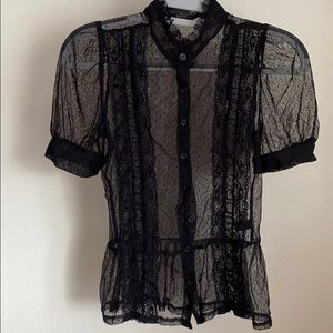 Twentyone Sheer Lace Top S